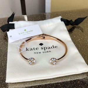 Kate Spade lady marmalade bracelet clear/rose gold